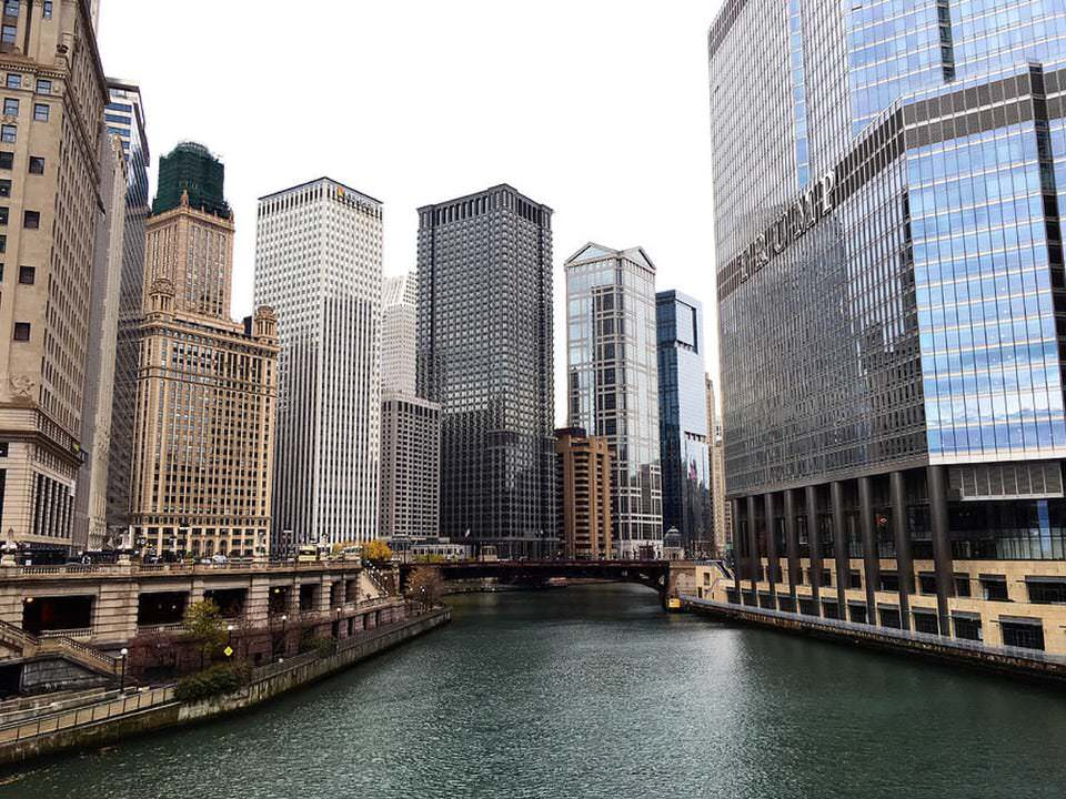 Chicago Michigan Ave Bridge - November