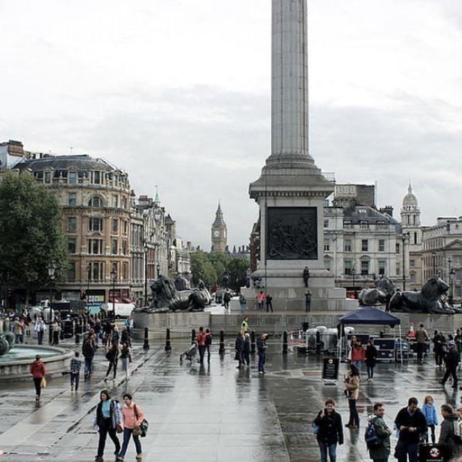 After The Rain In Trafalgar Square