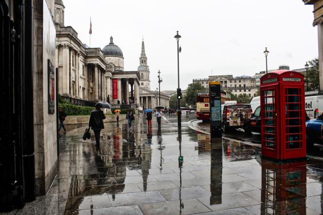 Reflections on a Rainy Day in London